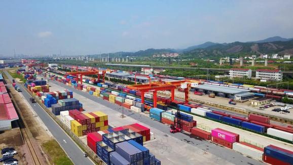 rail port in Yiwu