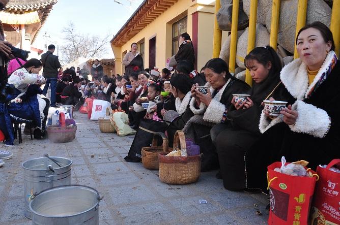 People on the Big Breakfast Festival of Gormar Village